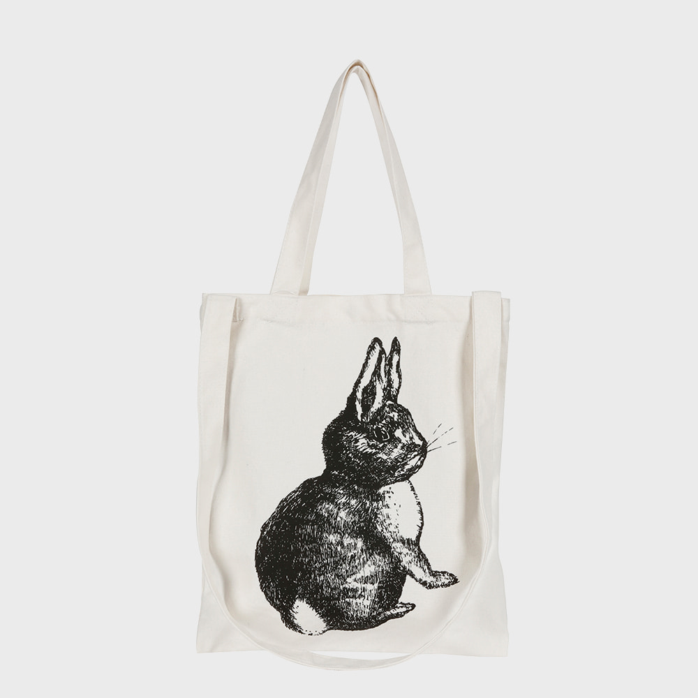 Ogram Rabbit Eco Bag in Ivory