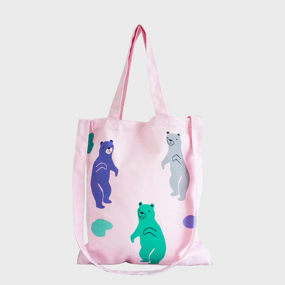 Ogram Jelly Bear Eco Bag in Pink