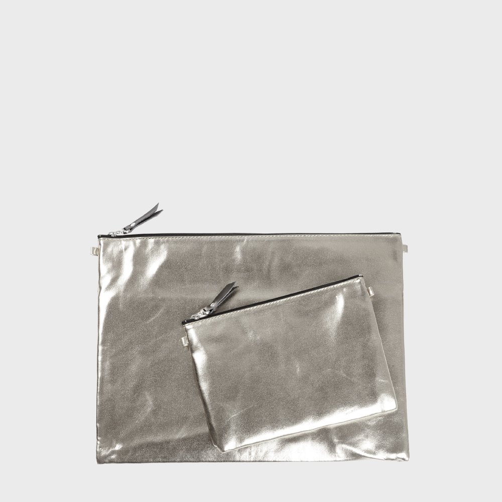 Ogram Bling Silver Pouch in Medium or Big