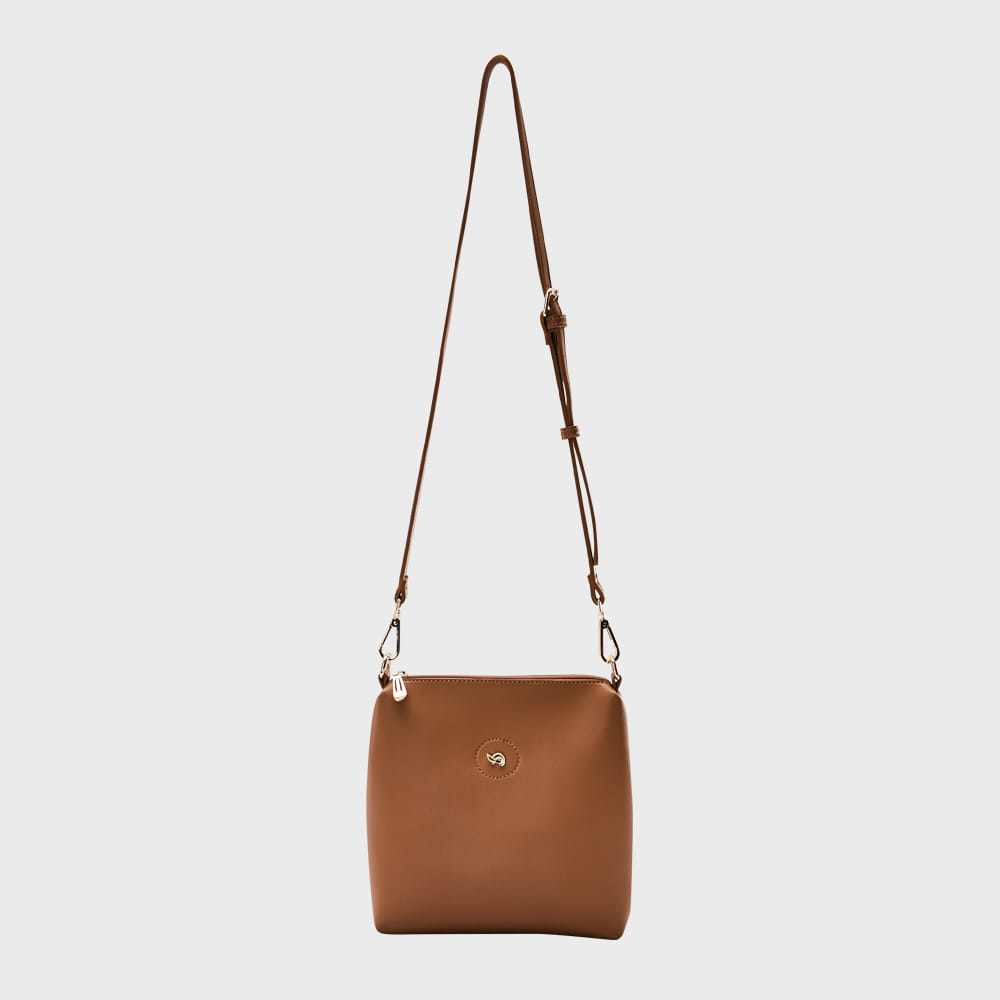 Ogram Mini Softly Crossbody Bag in Brown
