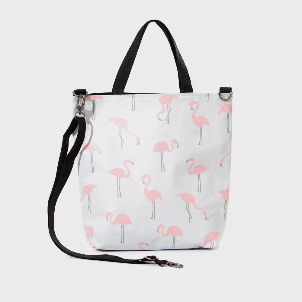 Ogram Flamingo Crossbody Bag in White