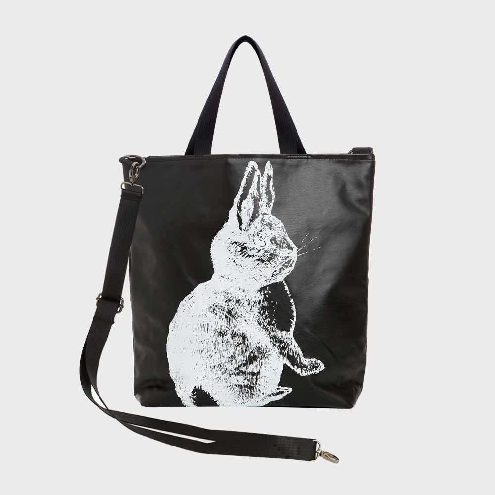 Ogram Rabbit Crossbody Bag in White