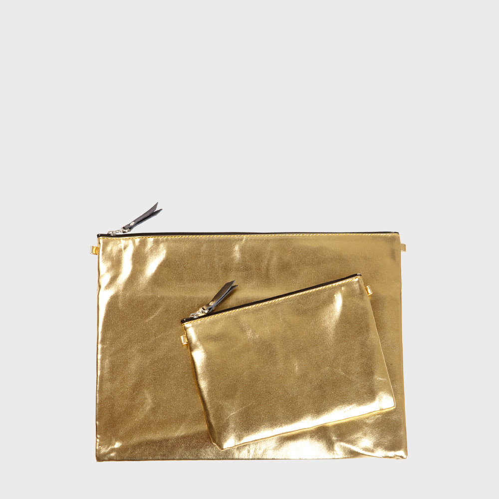 Ogram Bling Gold Pouch in Medium or Big