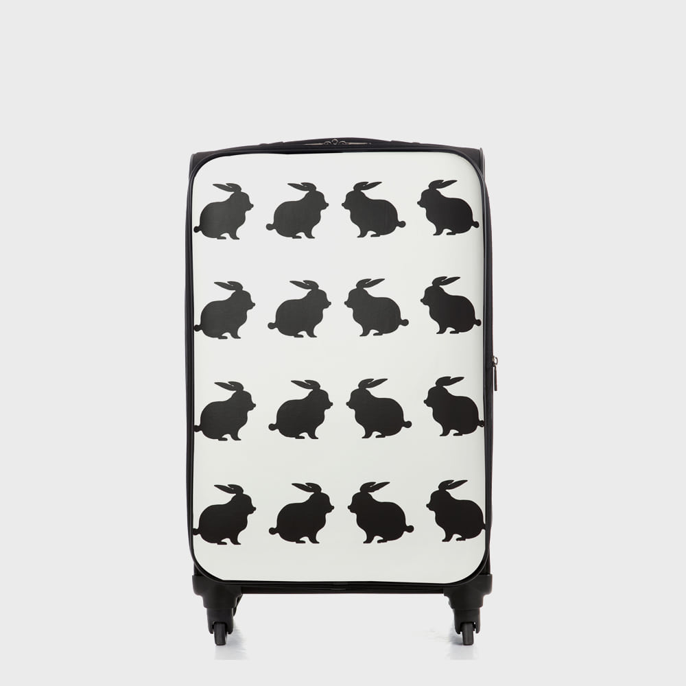 Ogram Bunny Bunny Softside Travel Luggage 20-inch in White