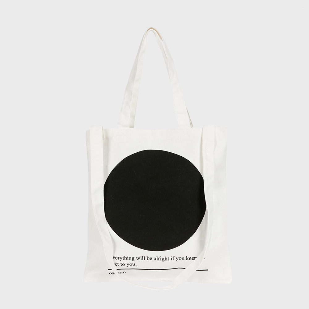 Ogram Circle Eco Bag in Ivory