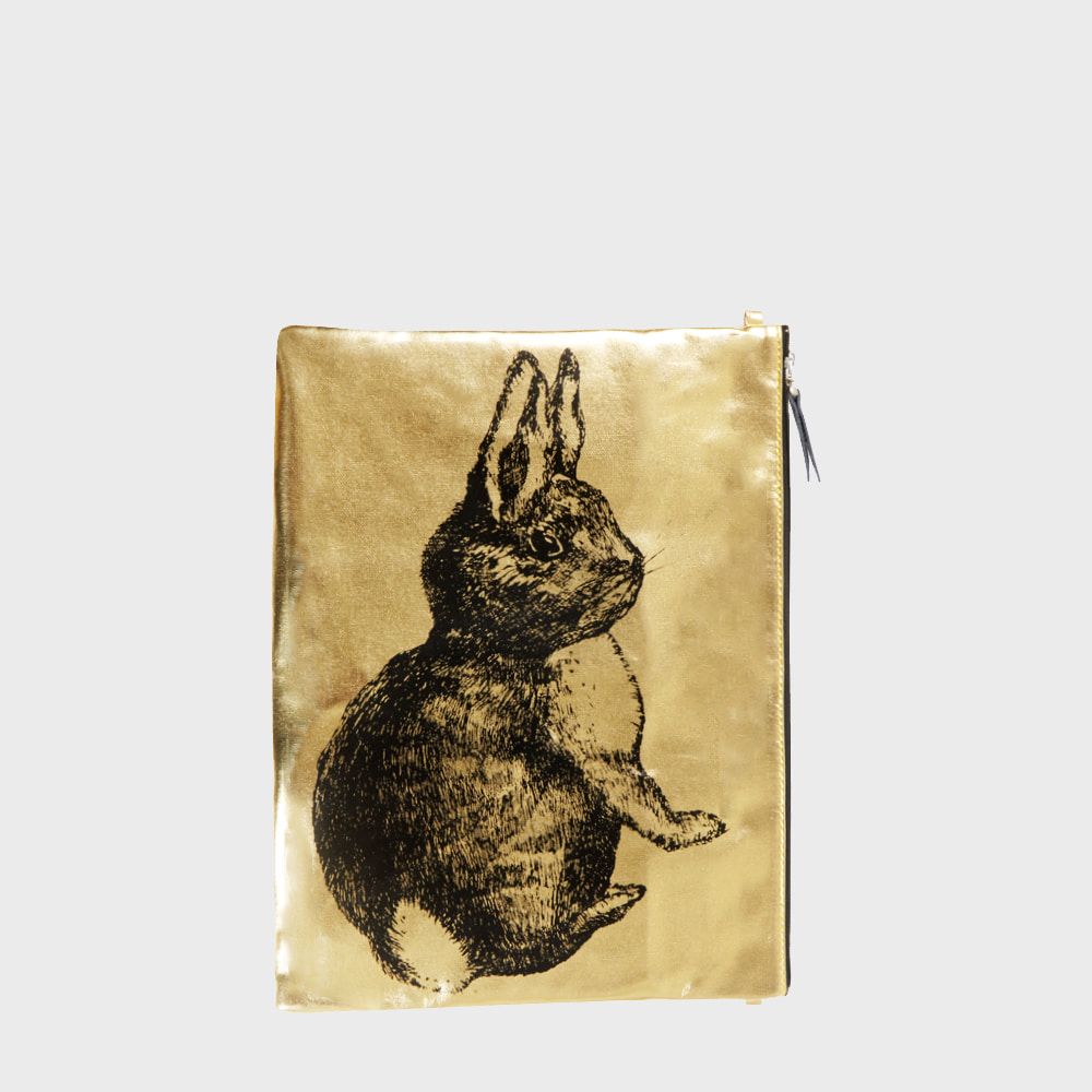 Ogram Gold Rabbit Pouch in Medium or Big