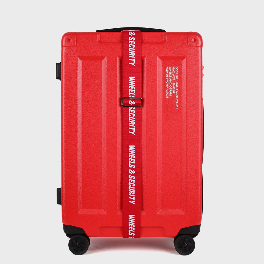 Ogram Wheels & Container PC Hardside Travel Luggage 20-, 24-, 28-inch in Red