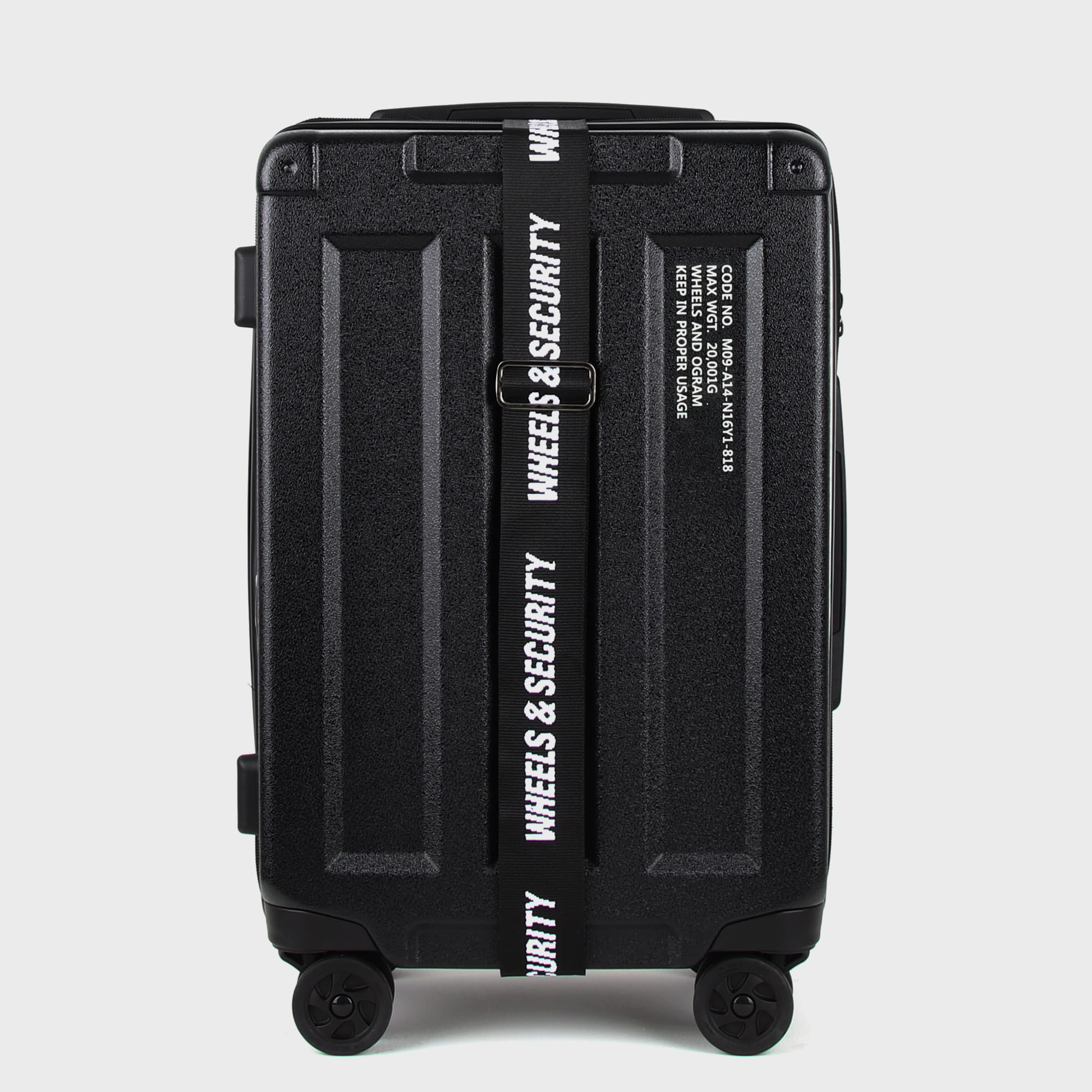 Ogram Wheels & Container PC Hardside Travel Luggage 20-, 24-, 28-inch in black